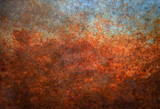 Rusted metal background - 124571390