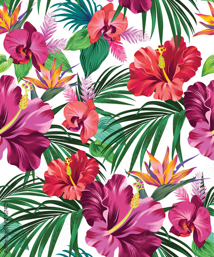 Fototapeta tropical vector pattern