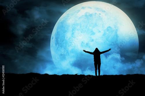 Girl enjoying the night sky.
