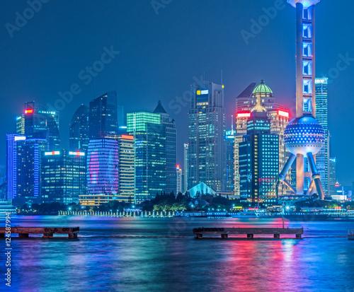 Foto op Aluminium New York Shanghai skyline panorama in China.