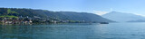 Fototapety Panorama with lake and the town Zug and mount Rigi in Switzerland