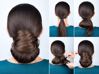 Hairstyle tutorial twisted bun © alter_photo