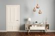 Modern living room interior with door 3d rendering - 124600135