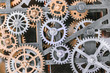 Industrial clock gear set background
