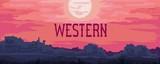 Western landscape banner
