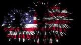 united states of america celebration with fireworks