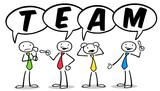 Fototapety Cartoon Business Leute als Team