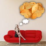 Woman Craving Potato Chips