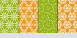 Seamless floral patterns set. Vector illustration. Texture for design wallpaper, pattern. ethnic ornament