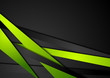 Abstract tech green black stripes design