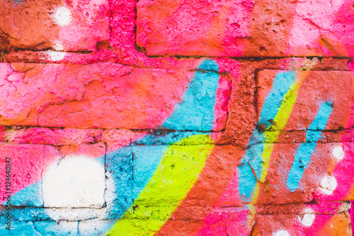 Graffiti wall close up