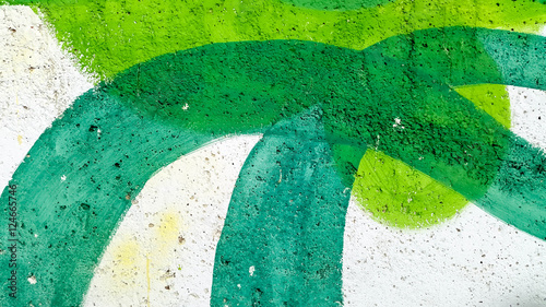 Fototapeta Wall Decoration Green Lines
