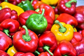 Bell pepper on street market stall