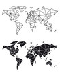 Geometric world map, vector
