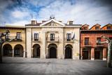 Pueblo pintoresco medieval en la ciudad de Valladolid España