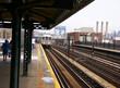 Elevated subway at tip of Manhattan