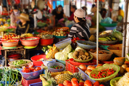 Colorful vegetables for sale Poster