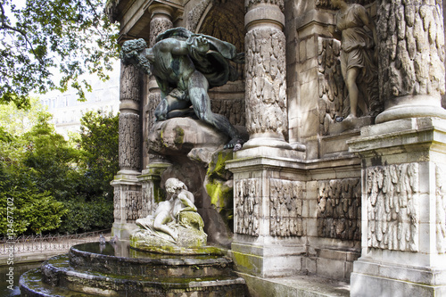 Medici fountain (Fontaine Medicis) at Jardin du Luxembourg in Paris Poster