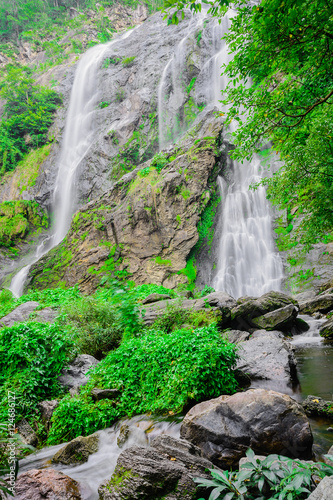 Khlong lan waterfall, famous natural tourist attraction in Kampa