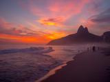 Ipanema Beach at Sunset in Rio de Janeiro