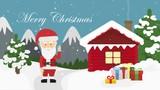 santa claus and gift box in christmas night. last 288 frame seamles loop