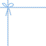 Background with bakers twine bow and ribbons - 124705393