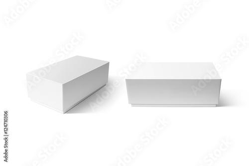 Plain white carton smart phone box mockup set, clipping path Poster