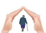mani a tetto copertura per anziani