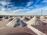 Salt mine at Sambhar Lake, Rajasthan, India