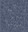 seamless pattern with abstract curl ornament