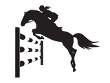 Equestrian competitions - vector illustration of horse  - 124724192