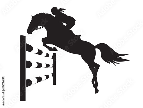 Equestrian competitions - vector illustration of horse