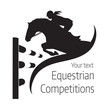 Equestrian competitions - vector illustration of horse - logo - 124724749