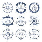 Bike Rent Label and Badges Design. Vector