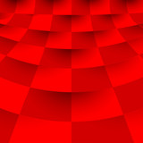 Abstract geometric concept stylish red background.