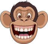 Happy monkey head