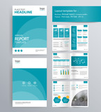 page layout for company profile, annual report, brochure, and flyer layout template. with info graphic element. and vector A4 size  for editable  - 124753979