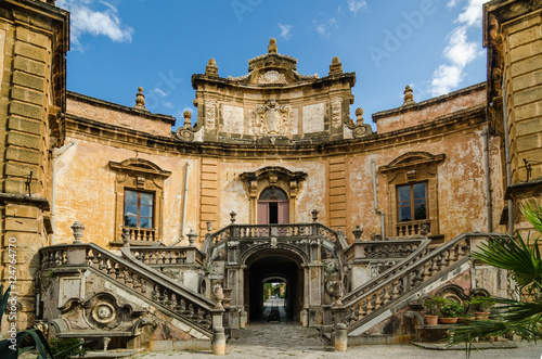 The Villa Palagonia in Bagheria, Palermo, Sicily, Italy.