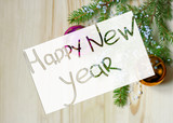 Greeting card for the New Year.