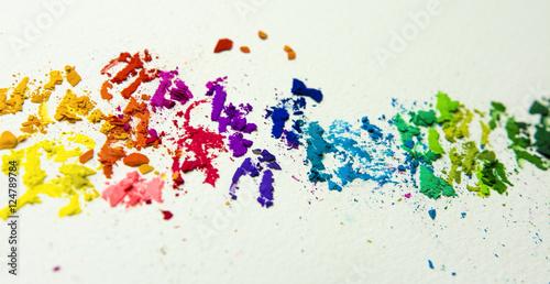 Poster Farbspektrum aus Farbpigmenten
