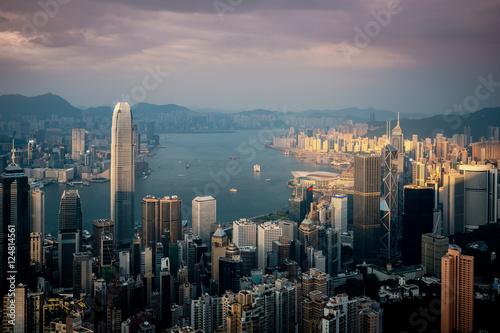 Poster hong kong city view