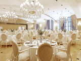 The ballroom and restaurant in classic style.