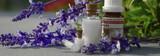 Fototapety Globuli mit Lavendel Banner