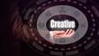 Businessman holding a Creativity concept.