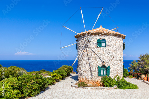 Fototapety, obrazy : Traditional windmill, Zakynthos island, Greece