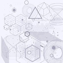 symboles de la géométrie sacrée et les éléments de fond. Cosmic, univers, bing-bang, l'alchimie, la religion, la philosophie, l'astrologie, la science, la physique, la chimie et la spiritualité thèmes.