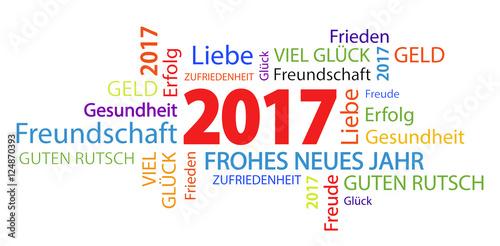 GamesAgeddon - word cloud with new year 2017 greetings - Lizenzfreie ...