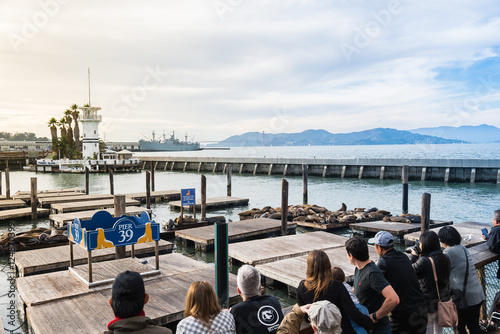 Poster SAN FRANCISCO, USA - NOVEMBER 21, 2015 : Pier 39 of San Francisco