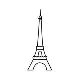 eiffel tower icon image vector illustration design