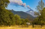 Volcán Villarrica en actividad, Pucon, Novena Región de la Araucania.